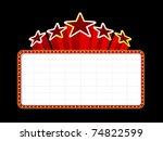 blank movie  theater or casino... | Shutterstock .eps vector #74822599