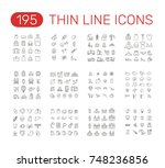 set of thin line icons... | Shutterstock .eps vector #748236856
