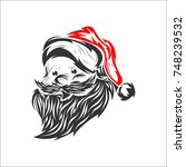 head santa claus vector... | Shutterstock .eps vector #748239532