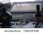 positioning control panel on a...   Shutterstock . vector #748239538