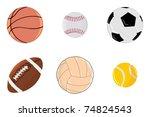 set of balls. vector | Shutterstock .eps vector #74824543