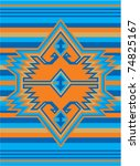 mexican ethnic cover design | Shutterstock .eps vector #74825167