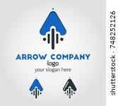 unique up arrow logo template... | Shutterstock .eps vector #748252126