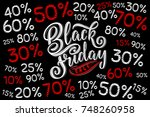 black friday sale background ... | Shutterstock .eps vector #748260958