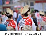 japanese traditional costume in ... | Shutterstock . vector #748263535