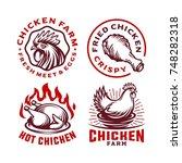 set chicken label for business... | Shutterstock .eps vector #748282318