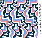 vector hippie seamless pattern... | Shutterstock .eps vector #748288642