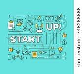 start up vector banner concept...   Shutterstock .eps vector #748288888
