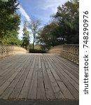 Wooden Bridge In Central Park