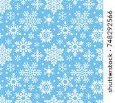 christmas seamless pattern... | Shutterstock .eps vector #748292566