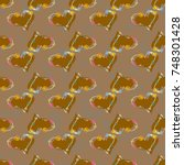 new colorful seamless pattern...   Shutterstock .eps vector #748301428