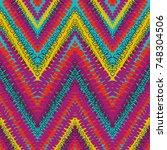 grunge chevron vector pattern...   Shutterstock .eps vector #748304506