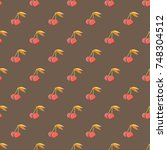 cute cherry seamless pattern....