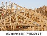rooftop framework - stock photo