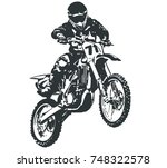 motocross rider   Shutterstock .eps vector #748322578
