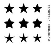 star icons set  various five... | Shutterstock .eps vector #748328788