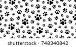 dog paw cat paw puppy foot... | Shutterstock .eps vector #748340842