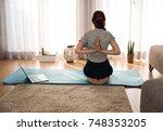 full length shot of a woman...   Shutterstock . vector #748353205