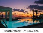 long beach resort hotel and spa ... | Shutterstock . vector #748362526