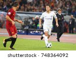 Small photo of ROME, ITALY - OCTOBER 31,2017: Eden Hazard during Uefa Champions League AS Roma Vs Chelsea FC at the Olimpic Stadium on October 31, 2017 in Rome.