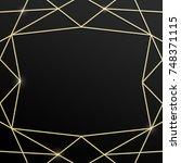 abstract geometric luxury... | Shutterstock . vector #748371115
