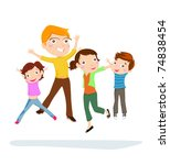happy family | Shutterstock .eps vector #74838454