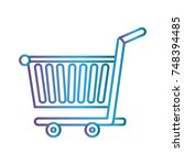 shopping cart icon | Shutterstock .eps vector #748394485