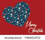 merry christmas card. vector... | Shutterstock .eps vector #748401952