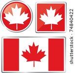 canada flag | Shutterstock .eps vector #74840422
