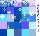 winter background with figure... | Shutterstock .eps vector #748405246