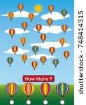 kindergarten math worksheets ... | Shutterstock .eps vector #748414315
