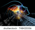 profiles of technology series.... | Shutterstock . vector #748420336