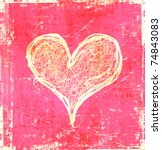 Scratch Hearts Background