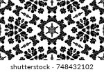 black and white pattern with... | Shutterstock . vector #748432102
