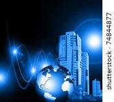 best internet concept of global ... | Shutterstock . vector #74844877