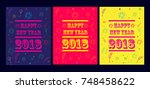 new year party background vector | Shutterstock .eps vector #748458622