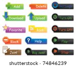 vector icons and buttons pack... | Shutterstock .eps vector #74846239