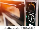 close up of an electric oven... | Shutterstock . vector #748464442