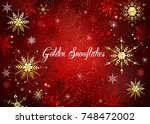 red christmas background with...   Shutterstock .eps vector #748472002
