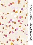 light pink  yellow red banner...   Shutterstock . vector #748474222