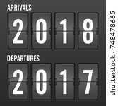 arrivals and departures year... | Shutterstock .eps vector #748478665