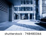 empty hall in the modern office ... | Shutterstock . vector #748480366