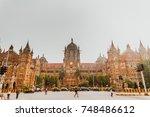 chhatrapati shivaji terminus ... | Shutterstock . vector #748486612