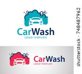 car wash logo design vector.... | Shutterstock .eps vector #748487962