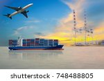 Cargo containers ship shipping...