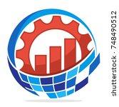 logo icon for business... | Shutterstock .eps vector #748490512