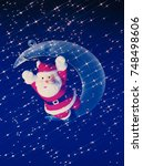 christmas santa claus | Shutterstock . vector #748498606