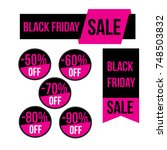 black friday sale banners ... | Shutterstock .eps vector #748503832