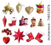 christmas ornament  isolated on ... | Shutterstock . vector #748515076