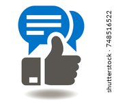 thumb up speech bubbles icon... | Shutterstock .eps vector #748516522